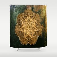celtic Shower Curtains featuring Celtic Gold by Lynn Bolt