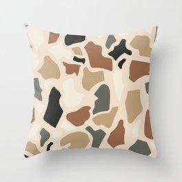 Abstract Terrazzo - Earth Tones Throw Pillow