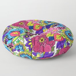Floral Wallpaper by Sandip Floor Pillow
