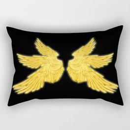 Golden Archangel Wings Rectangular Pillow
