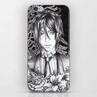 black butler iPhone & iPod Skins featuring Black Butler - Sebastian Michaelis by Furiarossa