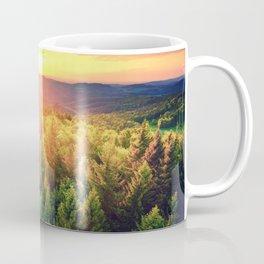 Sunset over forest Coffee Mug