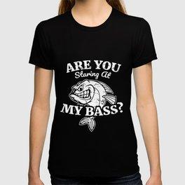 Funny Bass Fishing, Staring At My Bass T-shirt