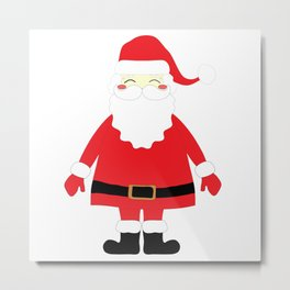 Happy Santa Metal Print