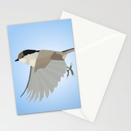 WILLOW TIT BIRD LOW POLY ART Stationery Cards