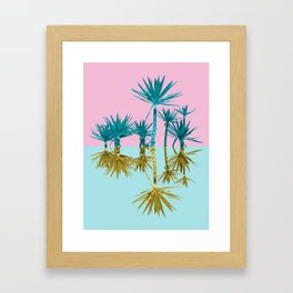 crazy palm trees Framed Art Print