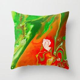 Emerald Marble Throw Pillow