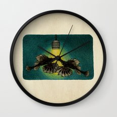 Sea Moths Wall Clock