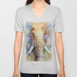 Dream Big Elephant Unisex V-Neck