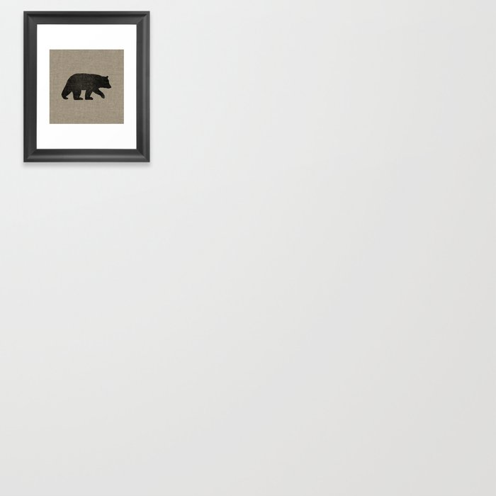 Black Bear Silhouette Gerahmter Kunstdruck