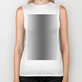 White to Black Vertical Bilinear Gradient Biker Tank