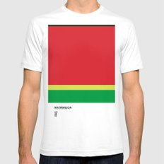 Pantone Fruit - Watermelon X-LARGE White Mens Fitted Tee