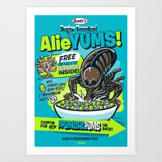 AlieYUMS! (blue variant) Art Print