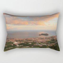 Coastal town in Azores Rectangular Pillow