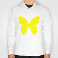 butterfly Hoodies featuring Butterfly by Naked N Pieces