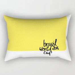 Brazil World Cup 2014 - Poster n°3 Rectangular Pillow