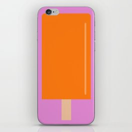 Orange Popsicle with pink background iPhone Skin