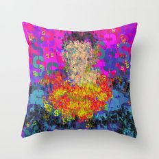 Super Type Man - Abstract Pop Art Comic Throw Pillow