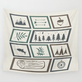 Camping [Color] Wall Tapestry