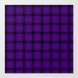 Large Indigo Violet Weave Canvas Print