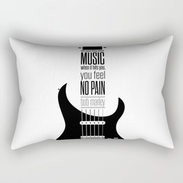 Lab No. 4 - Guitarist Inspirational Music Quotes Poster Rectangular Pillow