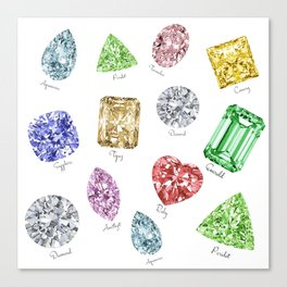 Gems pattern Canvas Print