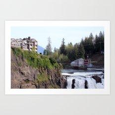 Top of the Falls Art Print