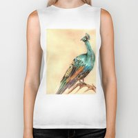 peacock Biker Tanks featuring Peacock by Goosi