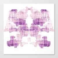 rorschach Canvas Prints featuring Rorschach by Adrienne