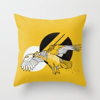 hawk Throw Pillows featuring Hawk by Randyotter