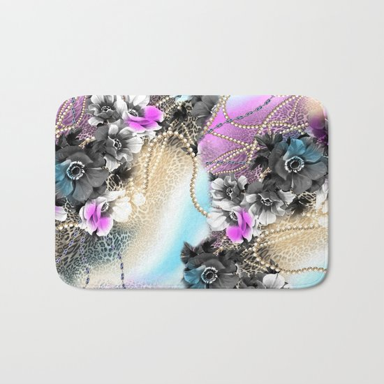 Bible Leopard With Flowers Bath Mat