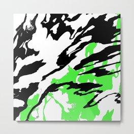 Green and Black Metal Print