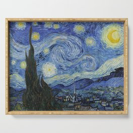 The Starry Night by Vincent van Gogh,1889 Serving Tray