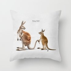 Being Tailed Throw Pillow