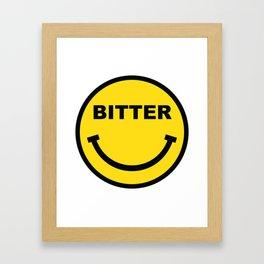 BITTER Framed Art Print
