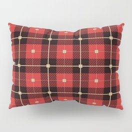 Red and Black Plaid Pillow Sham