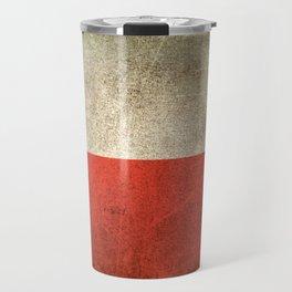 Old and Worn Distressed Vintage Flag of Poland Travel Mug