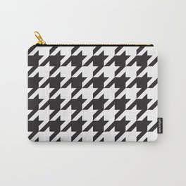 Houndstooth (Black and White) Carry-All Pouch