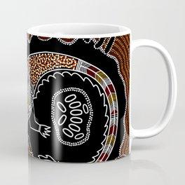 Aboriginal Crocodile Authentic Aboriginal Art Coffee Mug