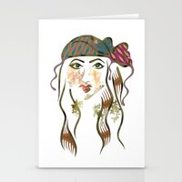 beth hoeckel Stationery Cards featuring 'Hanna-Beth' Illustration by Suki Sabur