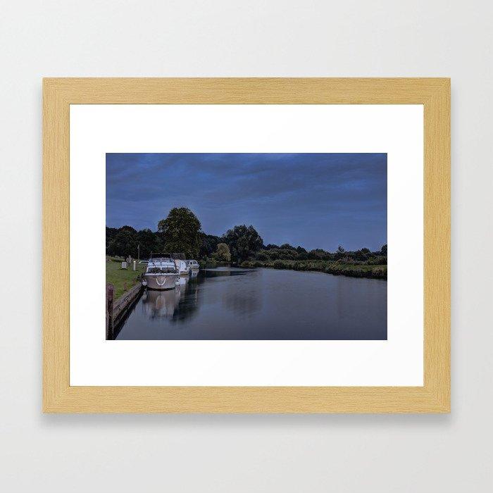 River Bure Coltishall at twilight Framed Art Print