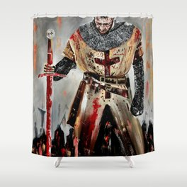 The Knights Templar Shower Curtain