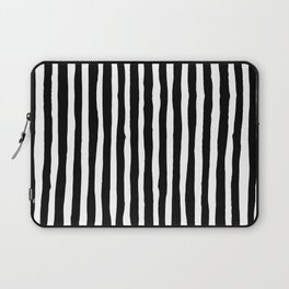 Black and White Vertical Stripes Laptop Sleeve