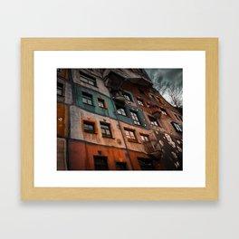 Hundertwasser museum Framed Art Print