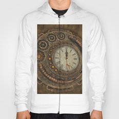 Steampunk, awesome clock Hoody