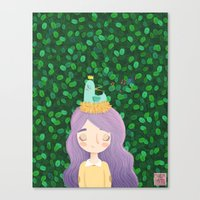 birdy Canvas Prints featuring Birdy by chicapato
