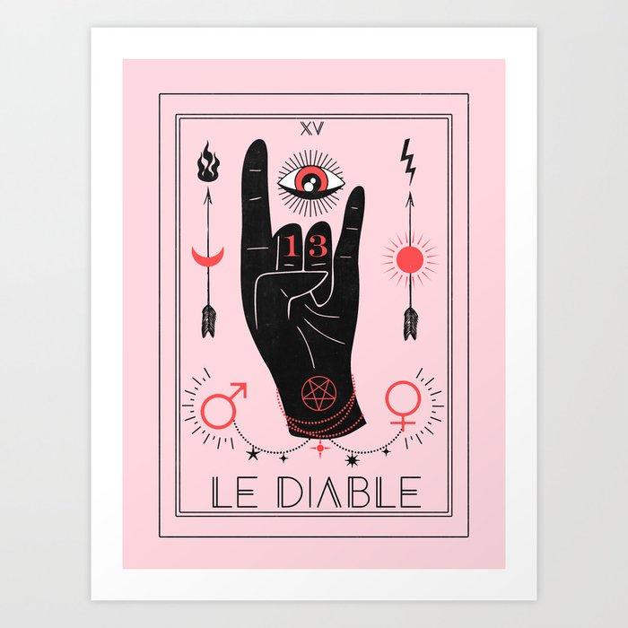 Le Diable or The Devil Tarot Art Print