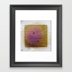 Sahasrara °^ Torus in Wood on Snow with Sunflower in Mind Framed Art Print