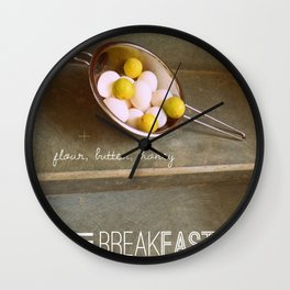 For the Love of Breakfast Wall Clock