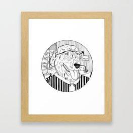 Wall Street Dog Framed Art Print